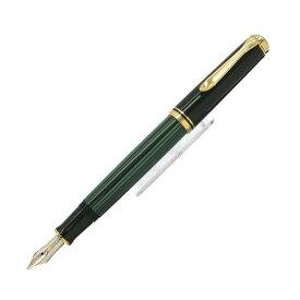 【送料無料】 Pelikan ペリカン 万年筆 スーベレーン M400 緑縞 【正規品】【smtb-f】