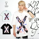 【KMK 2017 SUMMER T COLLECTION】 [KINGLY MASK Paint Logo Cross] DSS ビッグ Tシャツドロップショ...