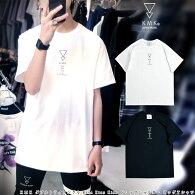 (チャンピオン)KMKダブルトライアングルKissKissKissTシャツ