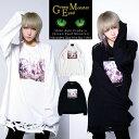 【 Green Eyed Monster 】刺繍 オパール プリント ビッグロンTTシャツ ユニセックス 青木志貴