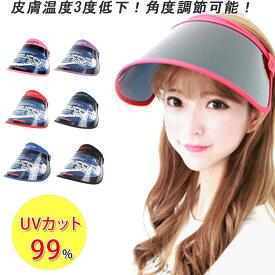 サンバイザー UV99.9%カット レインバイザー 雨 ベランダ 帽子 つば広 自転車 通勤 紫外線対策 uvカット帽子 コロナ ウイルス 梅雨対策 ウォーキング 帽子 レディース メンズ 日傘代わり 運転帽子 おしゃれ 紐付き 夏のアイテム◎(S) 26-DW角度調節UVサンバイザー△