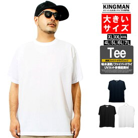 セール Tシャツ メンズ 大きいサイズ 半袖 吸汗速乾 ファイバードライ UVカット 無地 クルーネック カットソー 半袖Tシャツ 白 吸水 吸汗 速乾 黒 ストリート系 おおきいサイズ ビッグTシャツ 青