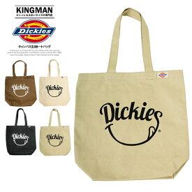 【送料無料】 Dickies(ディッキーズ) トートバッグ メンズ レディース スマイル ロゴ キャンバスバッグ キャンバス バッグ A4 通学 通勤 ニコニコ プリント かわいい 軽量 かばん 男女兼用 ストリート系 シンプル ブランド 肩掛け エコバッグ