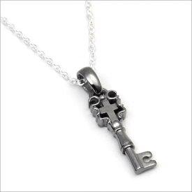シルバー925 クロス キー 十字架 鍵 モチーフ ネックレス(チェーン付)