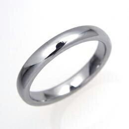 タングステン 甲丸リング3mm【NonPVD】7〜21号    文字入れ刻印可能♪/ペアリング/結婚指輪/マリッジリング