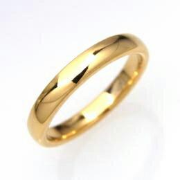 タングステン 甲丸リング3mm【PVD K18】7〜21号    文字入れ刻印可能♪/ペアリング/結婚指輪/マリッジリング