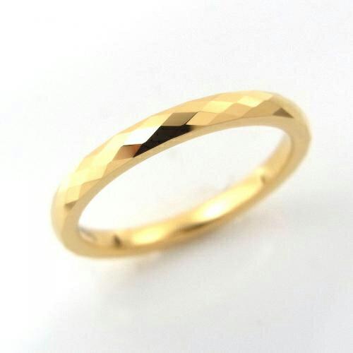 タングステン 甲丸多面カットリング2mm【NonK18】3〜13号    文字入れ刻印可能♪/ペアリング/結婚指輪/マリッジリング