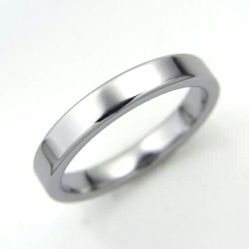タングステン 平打ちリング3mm幅【NonPVD】7〜21号    文字入れ刻印可能♪/ペアリング/結婚指輪/マリッジリング