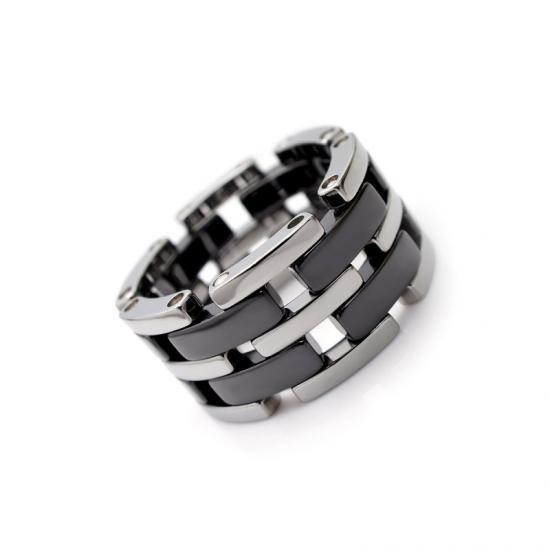 タングステン&セラミックデザインリング12mm幅【NonPVD】14・17・19・20・24・25号   文字入れ刻印可能♪/ペアリング/結婚指輪/マリッジリング