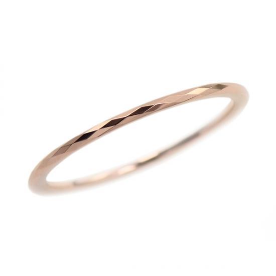 タングステン 1mm幅 2列カットリング ピンク 1〜13号    /ペアリング/結婚指輪/マリッジリング