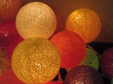【アジアン】【ランプ】【照明】【かわいい】どこよりも安いコットンボールランプ【全11色
