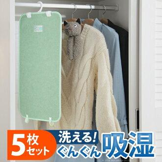 湿度调整磨砂水分-衣柜的五集的除湿板湿板除臭衣架支持