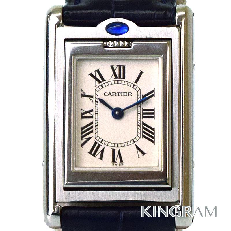 カルティエ Cartier タンク バスキュラント W1011158 ステンレス レディース 腕時計 km 【中古】