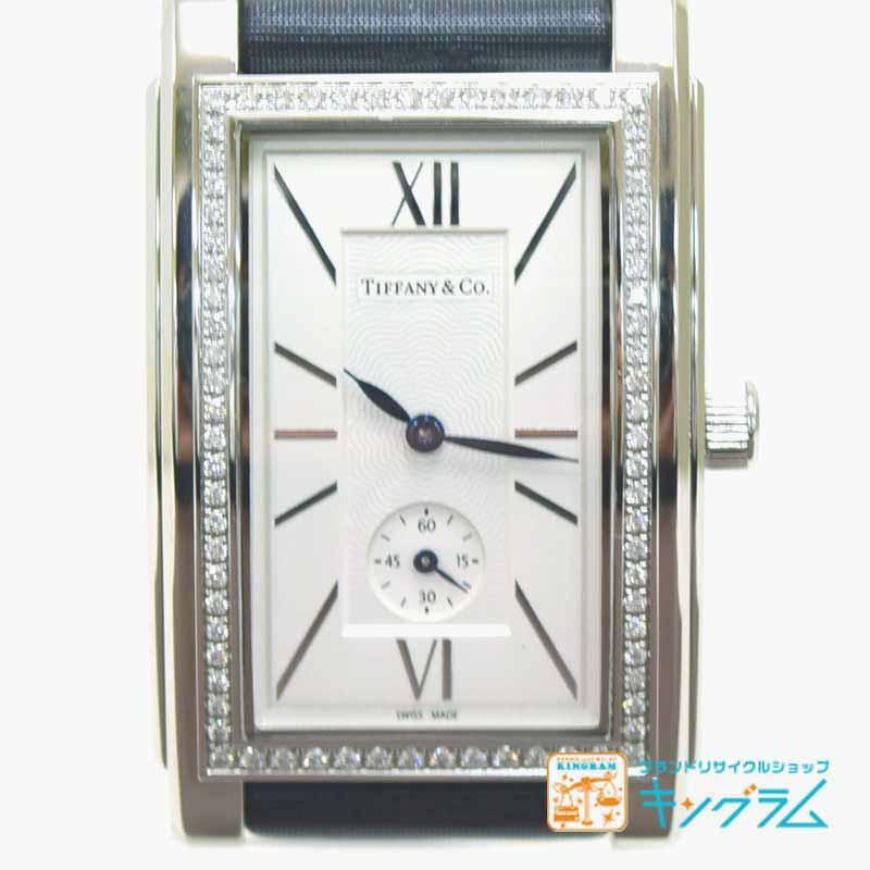 ティファニー Tiffany グランド Z0030.13.10B21A40A アウトレット ダイヤベゼル スモールセコンド クオーツ メンズ腕時計 ec【中古】