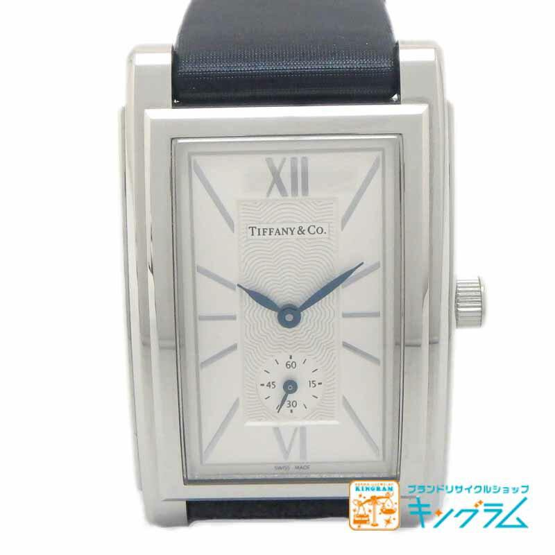 ティファニー Tiffany グランド Z0030.13.10A21A40A アウトレット スモールセコンド クオーツ メンズ腕時計 ec 【中古】