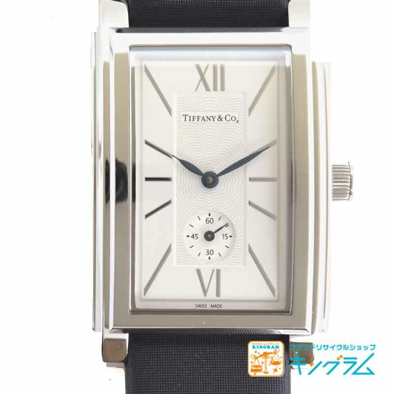ティファニー Tiffany グランド Z0030.13.10A21A40A スモールセコンド クオーツ メンズ腕時計 ec 【中古】