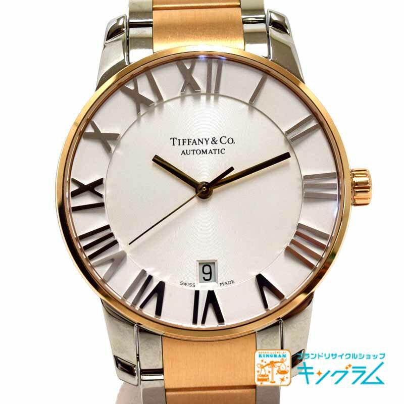 ティファニー Tiffany&Co アトラスドーム コンビ Z1800.68.13A21A00A 自動巻き メンズ 腕時計 ec 【中古】