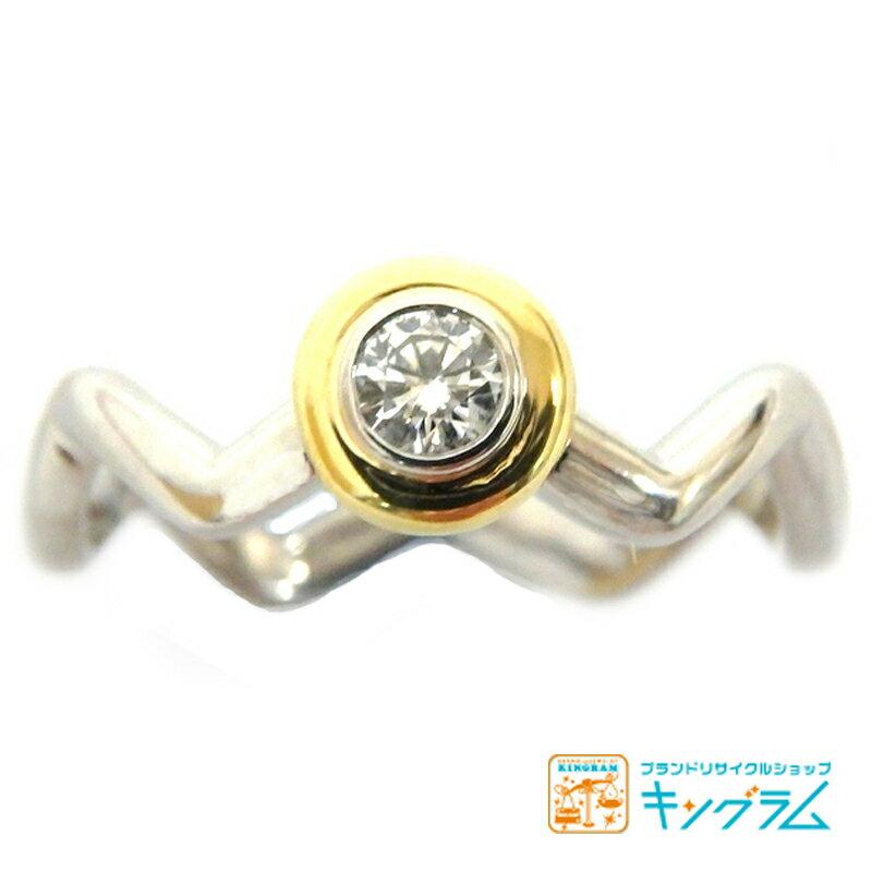 ティファニー TIFFANY&Co.  パロマピカソ リターントゥシリーズ PT950/K18ダイヤモンドリング#11.5 11.5号 指輪 レディース fc 【中古】