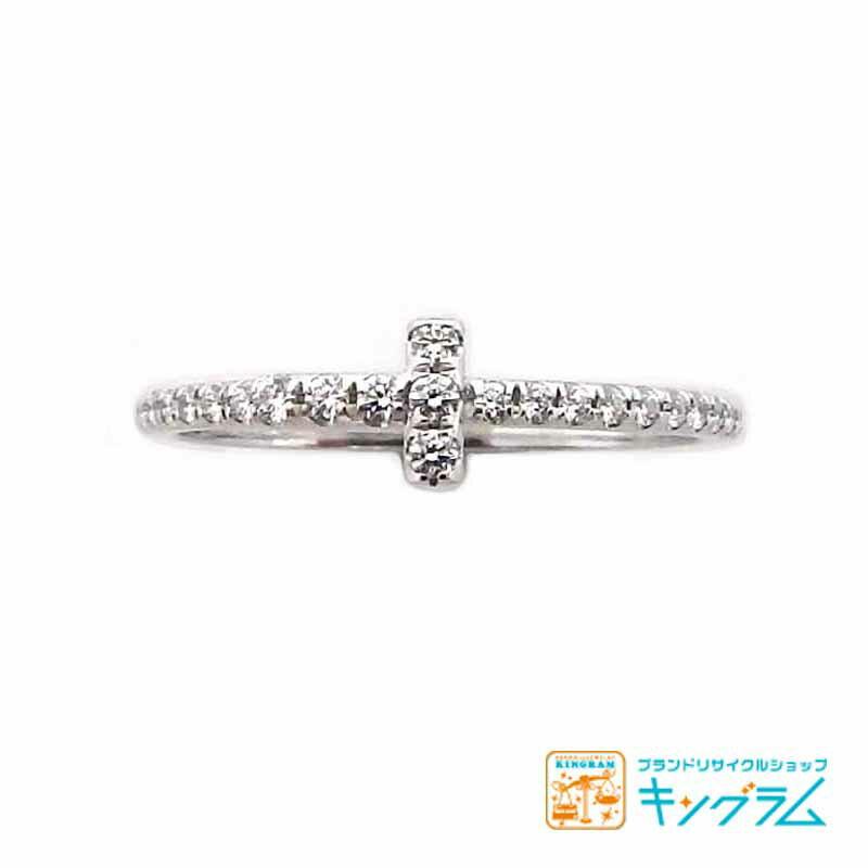 ティファニー Tiffany&Co. Tワイヤー フルエタニティ K18WG ダイヤモンド リング 指輪 ジュエリー 1.3g #11.5 11.5号 750 ホワイトゴールド gi 【中古】