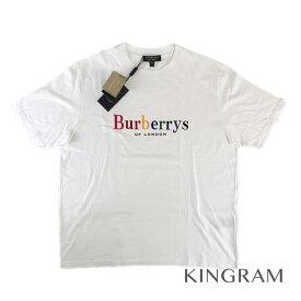578e8696da79d バーバリー BURBERRY Tシャツ burberrys rainbow 旧ロゴ半袖 イタリア製 18SS Lサイズ 未着用 ホワイト