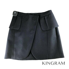 マルタンマルジェラ MARTIN MARGIELA ブラック ウール×モヘア レディース スカート rmt【中古】