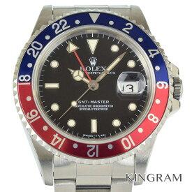 ロレックス ROLEX GMTマスター 16700 青赤ベゼル S番 OH済 自動巻 メンズ 腕時計 te【中古】