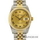 ロレックス ROLEX デイトジャスト 16233 外装仕上げ済 OH済 自動巻 メンズ 腕時計 te【中古】