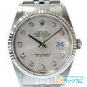 ロレックス ROLEX デイトジャスト 16234G 10Pダイヤ P番 自動巻 メンズ腕時計 ki 【中古】