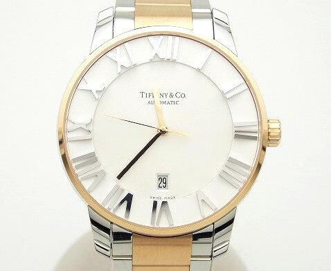 ティファニー Tiffany&Co アトラスドーム コンビ Z1810.68.13A21A00A 自動巻き メンズ ec【中古】