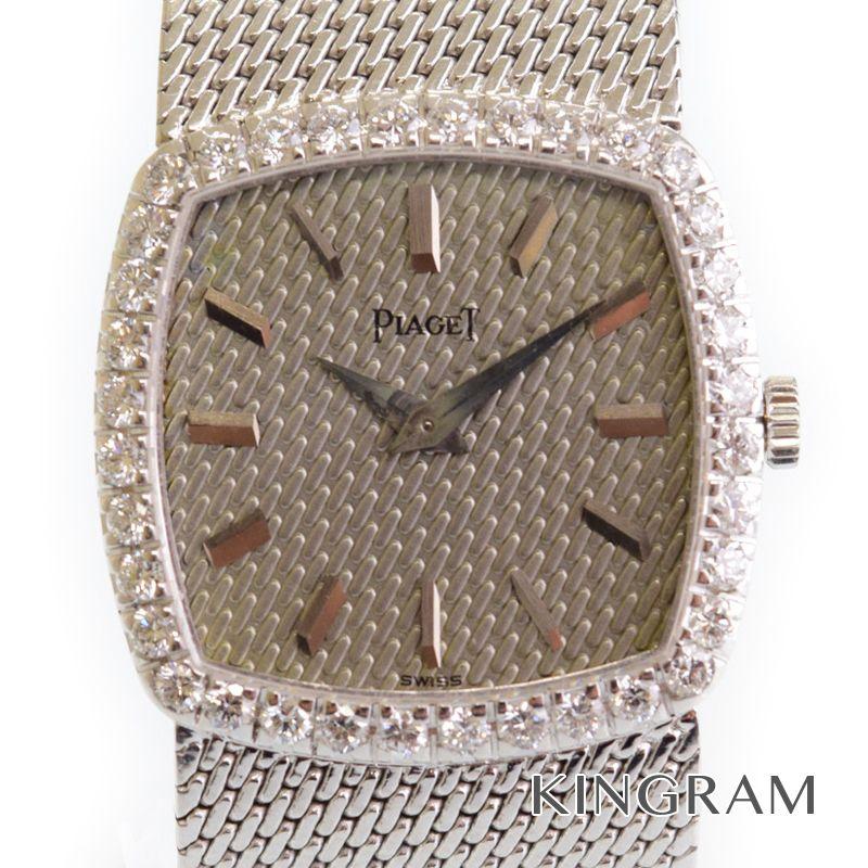 ピアジェ PIAGET Ref.9236 手巻 K18WG ダイヤベゼル レディース 腕時計 ny 【中古】