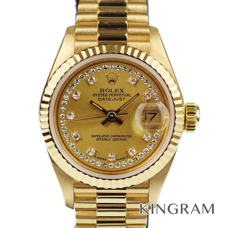 ロレックス ROLEX デイトジャストレディ Ref.69178LB OH 外装仕上げ済 自動巻 レディース 腕時計 omte 【中古】