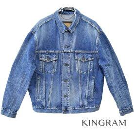 バレンシアガ BALENCIAGA デニムジャケット 17AW オーバーサイズ クラッシュ加工 ヴィンテージ加工 ブルー 綿 メンズ アウター rkd 【中古】