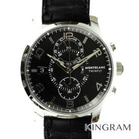 c62da1edd7 中古 モンブラン MONTBLANC タイムウォーカー Ref.105077 クロノグラフ ツインフライ 自動巻 メンズ 腕時計 ec 【中古】