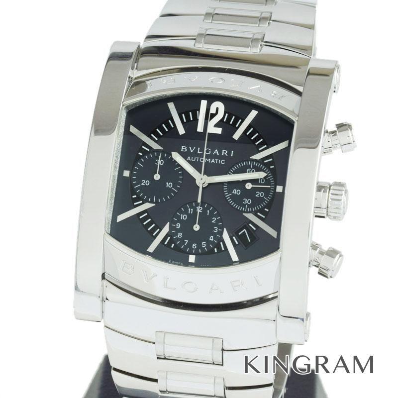 ブルガリ BVLGARI Ref.AA48SCH アショーマ クロノグラフ OH済 自動巻 メンズ 腕時計 ros 【中古】
