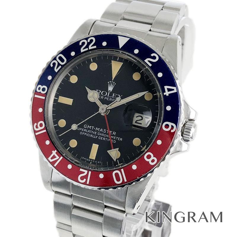 ロレックス ROLEX GMTマスター 青×赤 Ref.16750 75番 フチなし 82年個体 赤青ベゼル OH済 自動巻 メンズ 腕時計 fkk 【中古】