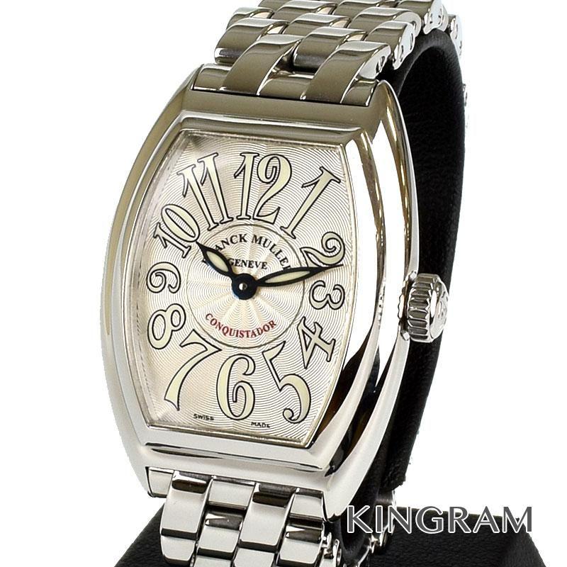 フランク ミュラー FRANCK MULLER コンキスタドール Ref.8005 L QZ クォーツ レディース 腕時計 fah 【中古】