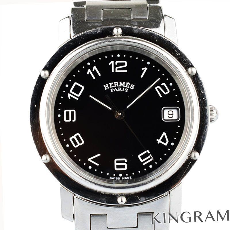 エルメス HERMES クリッパー Ref.CL6.710 クォーツ メンズ 腕時計 ko 【中古】