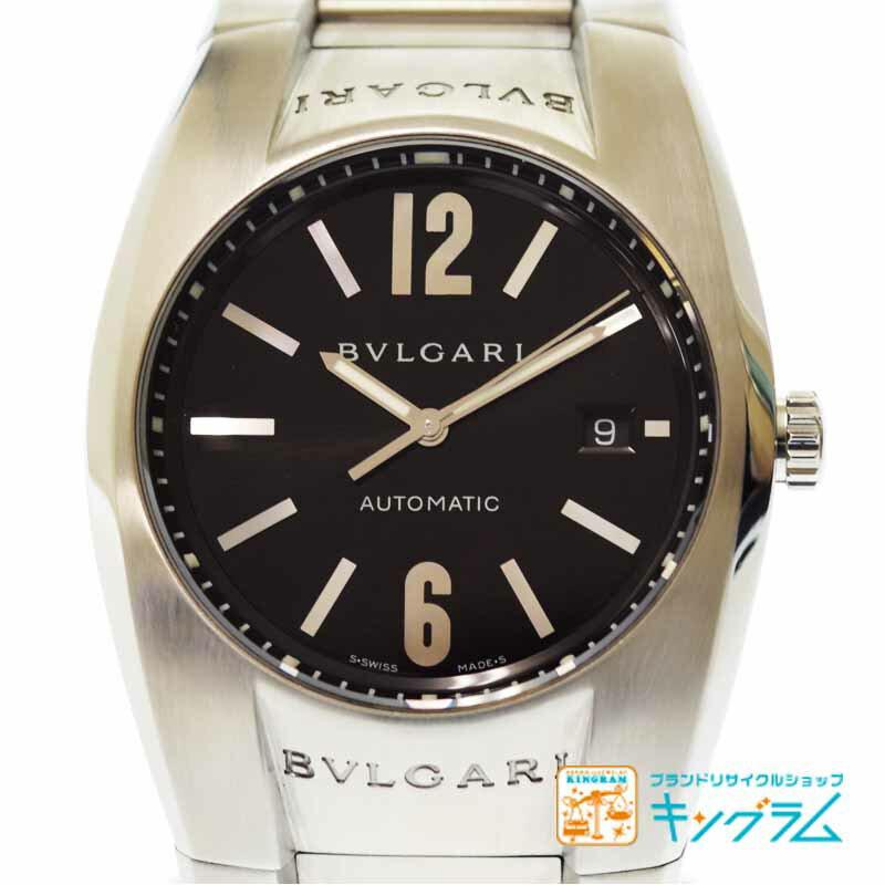 ブルガリ BVLGARI エルゴン EG40S  黒文字盤 メンズ スポーツモデル 腕時計 自動巻き se【中古】