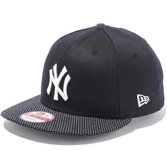 【 NEW ERA / ニューエラ 】9FIFTY Small Dot ニューヨーク・ヤンキース スナップバック キャップ / ブラック×Small Dot バイザー 【あす楽対応_東北】【あす楽対応_関東】 ( ニューエラ ) ( ヤンキース )