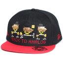 7UNION 7ユニオン Back To Analog Snapback Cap スナップバックキャップ 帽子 IAVW-110 ブラック×レッド
