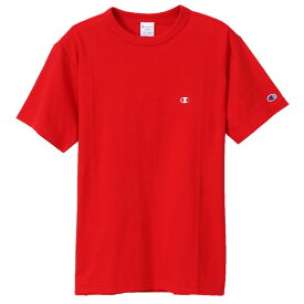 チャンピオン Tシャツ メンズ CHAMPION ベーシック チャンピオン 19SS 胸Cロゴ ワンポイント レッド S-XL C3-P300