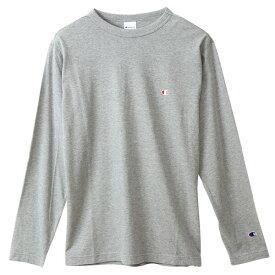 チャンピオン Tシャツ 長袖 CHAMPION ロングスリーブTシャツ ベーシック ワンポイント メンズ オックスフォードグレー C3-P401