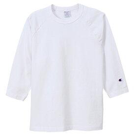 チャンピオン Tシャツ 7分袖 メンズ CHAMPION T1011 ラグラン3/4スリーブ 19SS MADE IN USA ホワイト S-XL C5-P404