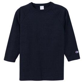チャンピオン Tシャツ 7分袖 メンズ CHAMPION T1011 ラグラン3/4スリーブ 19SS MADE IN USA ネイビー S-XL C5-P404