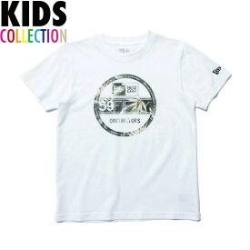 ニューエラ Tシャツ キッズ NEW ERA Kid's コットン Tシャツ 子供用 男の子 女の子 誕生日 プレゼント ボタニカル バイザーステッカー/ホワイト 130-160サイズ 11901429