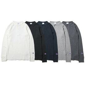 チャンピオン サーマル ヘンリーネック ロングスリーブTシャツ 長袖 Tシャツ ロンT メンズ レディース CHAMPION ストリート ブランド ロゴ ワンポイント 刺繍 19FW 全5色 S-XL C3-Q406