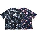 APPLEBUM アップルバム シャツ Flower S/S Aloha Shirt 半袖 アロハシャツ applebum 送料無料 おしゃれ プレゼント 全2色 S-XL 2110203