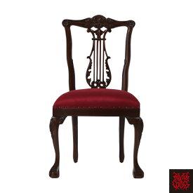 イギリスアンティーク調家具シングルチェア  幻想的英黒家具 椅子 MG601 / 悪魔系 悪魔姫系 悪姫系 ゴシック バロック クラシック アンティーク ヴィンテージ ヴィジュアル スタッズ レッド おしゃれ