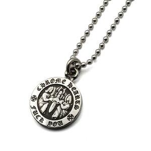 【クロムハーツ ネックレス ペンダント】CHROME HEARTS Angel Medal Charm V1 エンジェルメダルチャーム FUCK YOU