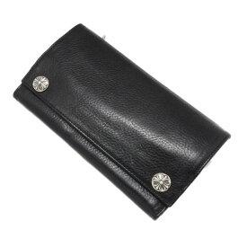 【クロムハーツ 財布】CHROME HEARTS ロングウォレットブラックヘビーレザー Long Wallet BK Heavy Leather